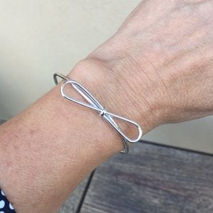{T&J Designs} Silver Plated Bow Bangle